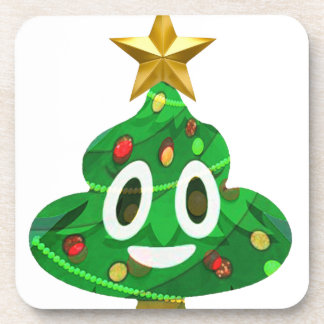 Porta-copo Tombadilho Emoji da árvore de Natal