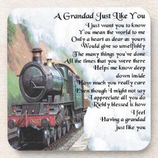Porta-copo Trem - poema do Grandad