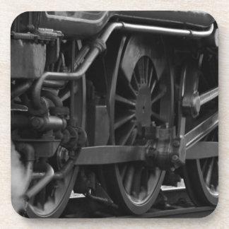 Porta-copo Trem preto e branco
