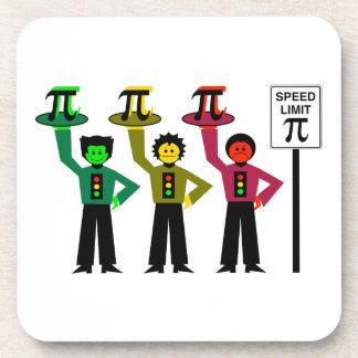Porta-copo Trio temperamental do sinal de trânsito ao lado do
