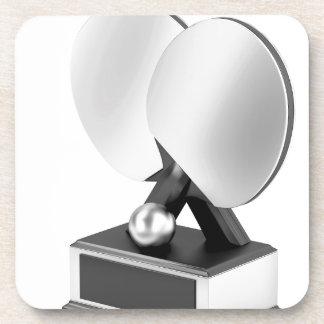 Porta-copo Troféu de prata do ténis de mesa