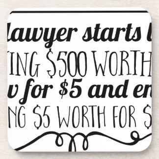 Porta-copo Um advogado começa vida que dá a $500 o valor da