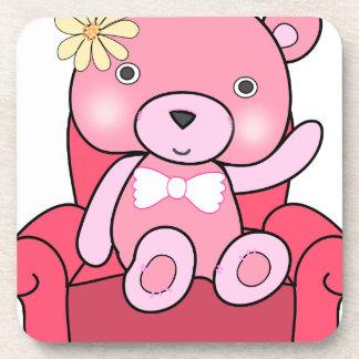 Porta-copo Urso cor-de-rosa na arte do sofá