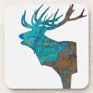 Porta-copo veado principal dos cervos nos turquois
