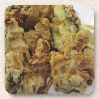 Porta-copo Vegetais crocantes panados e fritados com limão