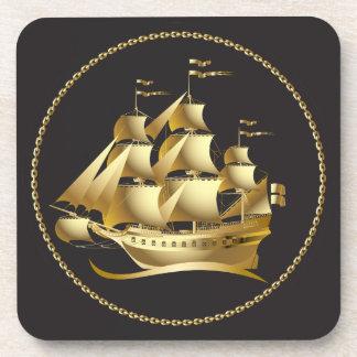 Porta-copo Veleiro do ouro náutico