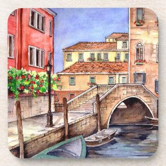 Porta-copo Veneza - aguarela da caneta & da lavagem