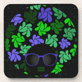 Porta-copo Verde & azul da diva do Afro