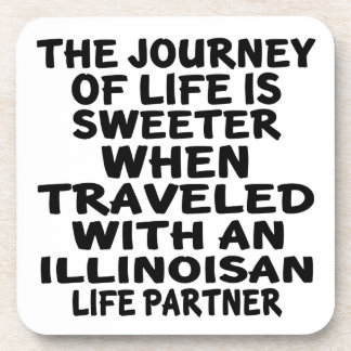 Porta-copo Viajado com um sócio da vida de Illinoisan