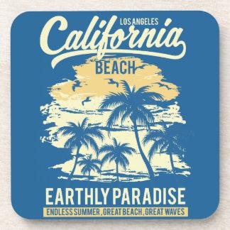 Porta-copo Vida na praia infinita de Califórnia do verão do