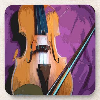 Porta-copo Violino elegante na seda roxa, 6 portas copos