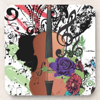 Porta-copo Violino Illustration2 do Grunge