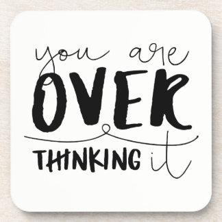 Porta-copo Você é Overthinking ele