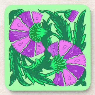 Porta-copo William Morris Jacobean, orquídea roxa e verde