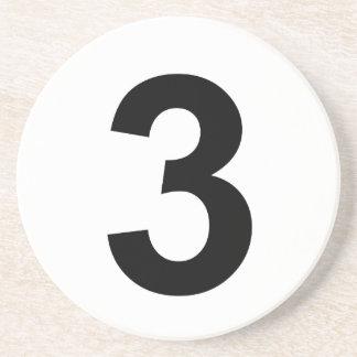 Porta-copos 3 - número três
