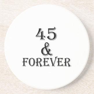 Porta-copos 45 e para sempre design do aniversário