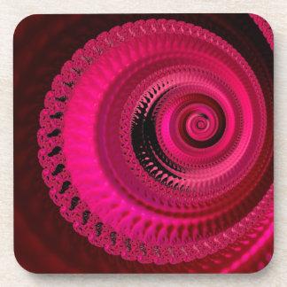 Porta Copos A arte abstracta preta cor-de-rosa roda grupo da
