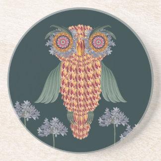 Porta-copos A coruja da sabedoria e das flores