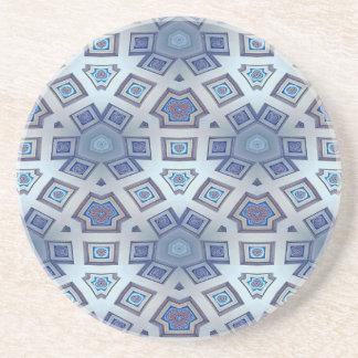 Porta-copos A engrenagem geométrica artística azul gosta do