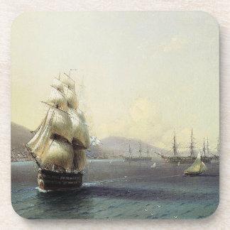 Porta-copos A fragata do navio de guerra da navigação envia a