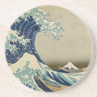Porta-copos A grande onda Kanagawa