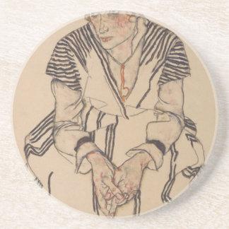 Porta-copos A irmã do artista de Egon Schiele- na lei