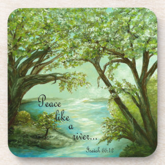 Porta-copos A paz gosta de um rio