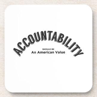 Porta-copos A responsabilidade deve ser um valor americano