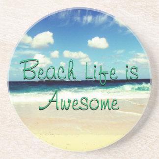 Porta-copos A vida da praia é impressionante