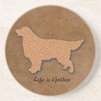 Porta-copos A vida do cão do golden retriever é dourada