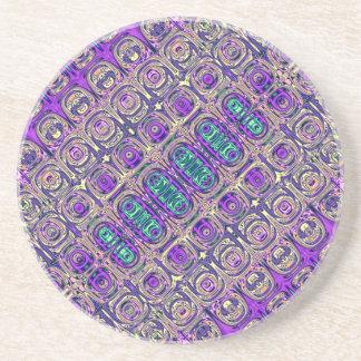 Porta-copos Abstrato colorido da miçanga de vidro