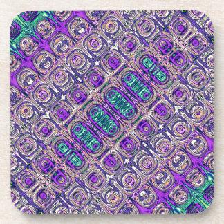 Porta Copos Abstrato colorido da miçanga de vidro