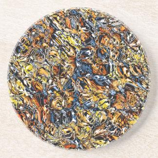Porta-copos Abstrato da laranja e do azul