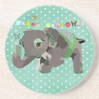 Porta copos afortunada do verde do elefante de Lil