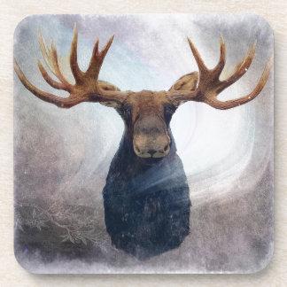 Porta-copos Alces da aurora boreal