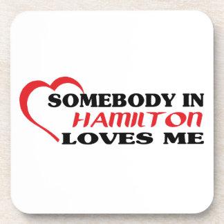 Porta-copos Alguém em Hamilton ama-me
