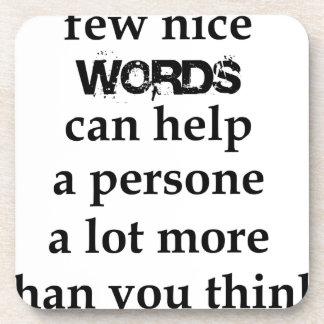 Porta-copos algumas palavras agradáveis podem ajudar uma