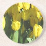 Porta copos amarela das tulipas