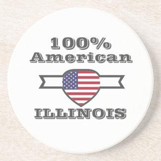 Porta-copos Americano de 100%, Illinois