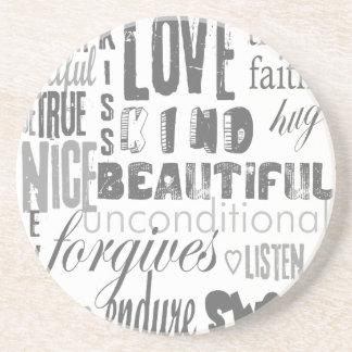Porta-copos Amor da esperança da fé dos Corinthians do