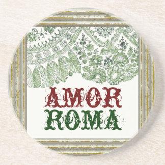 Porta-copos Amor Roma com laço do vintage