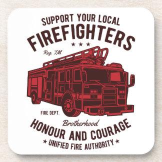 Porta-copos Apoie seus bombeiros locais