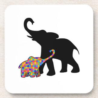 Porta Copos Apoio da consciência do autismo do elefante