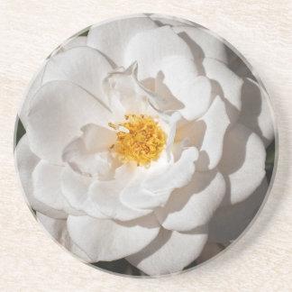 Porta copos, arenito com um rosa branco porta copos de arenito
