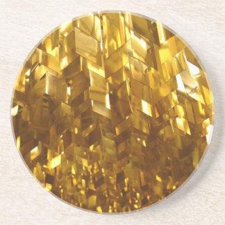 Porta-copos Arte abstracta do teto do ouro