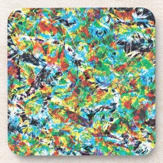 Porta-copos Arte colorida do teste padrão de flor do primavera