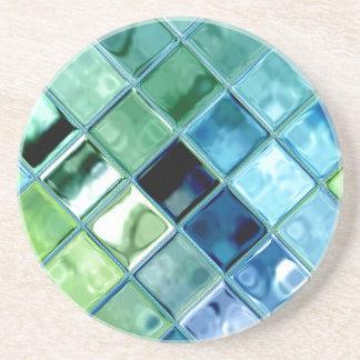Porta-copos Arte de vidro do azulejo de mosaico do mar