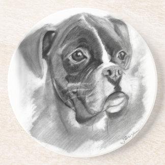 Porta-copos Arte do cão do pugilista