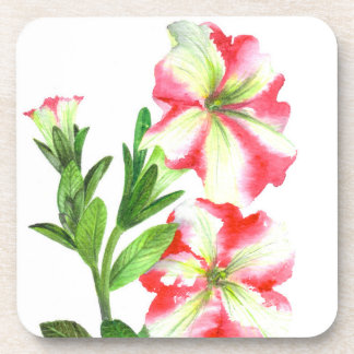 Porta-copos Arte floral dos petúnias cor-de-rosa e brancos