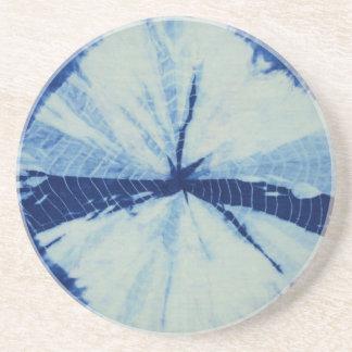 Porta-copos Arte redonda do círculo do índigo de DSC03486.JPG